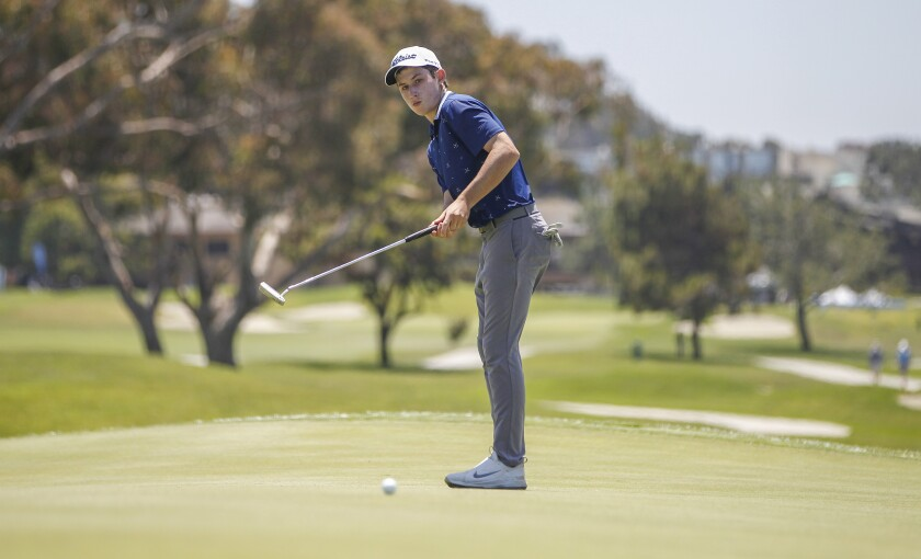 La Costa Canyon's Jonas Appel opened Junior World play with a 5-under-par 67 on Torrey Pines North. He followed with a second-round 75 to stand four shots back.