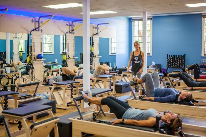 Group Reformer Class at Club Pilates La Jolla