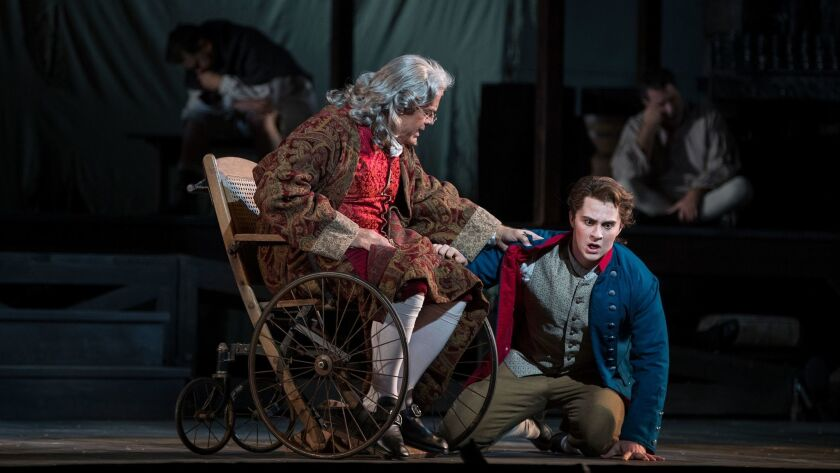 """Kelsey Grammar and Jack Swanson in """"Candide."""""""