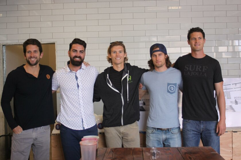 The crew at Everyday California/Woholle Juice Box includes Michael Samer, Christopher Lynch, Draper Donley, Duke Jarboe and Brian Stevens.