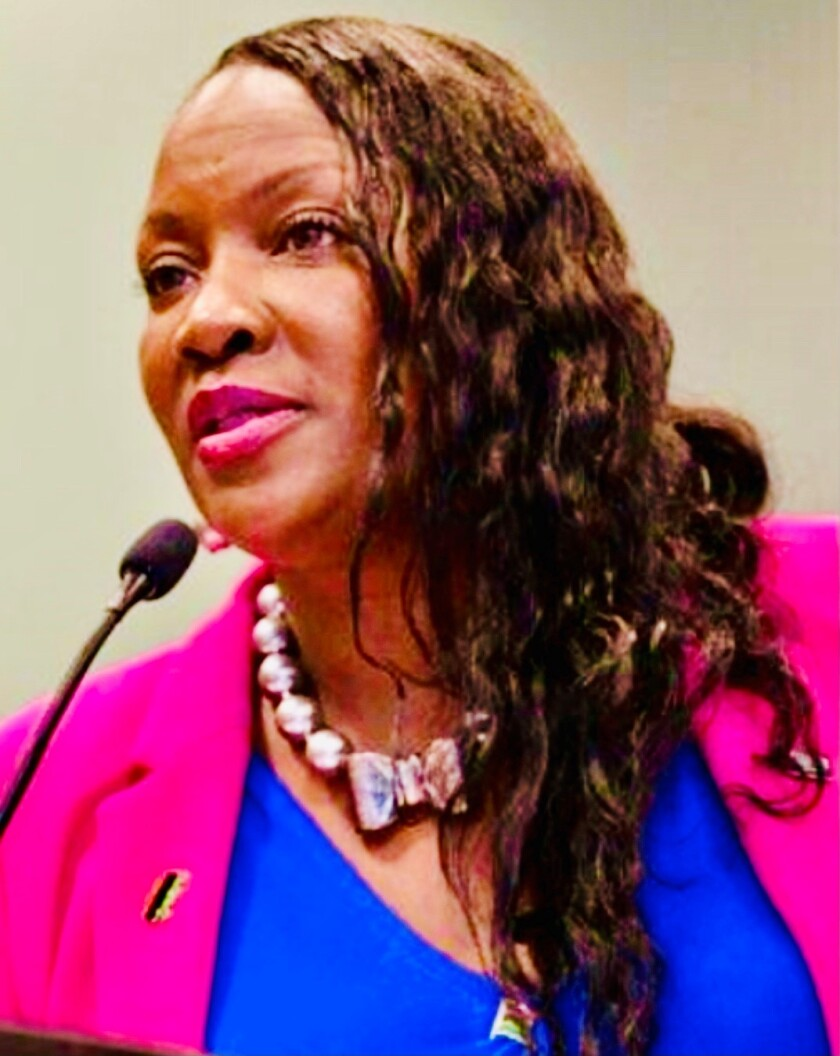 Taisha Brown, of San Carlos, chairs the Black caucus of the California Democratic Party,