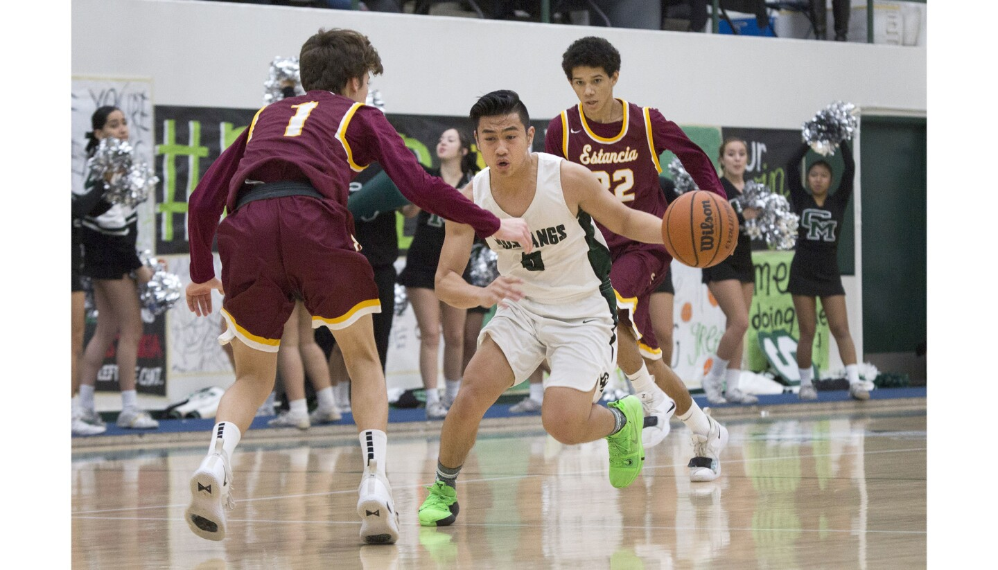 Photo Gallery: Estancia vs. Costa Mesa in boys' basketball