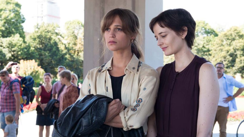 "(L-R)- Alicia Vikander and Eva Green in a scene from ""Euphoria."" Credit: J?rgen Olczyk/ Freestyle Re"
