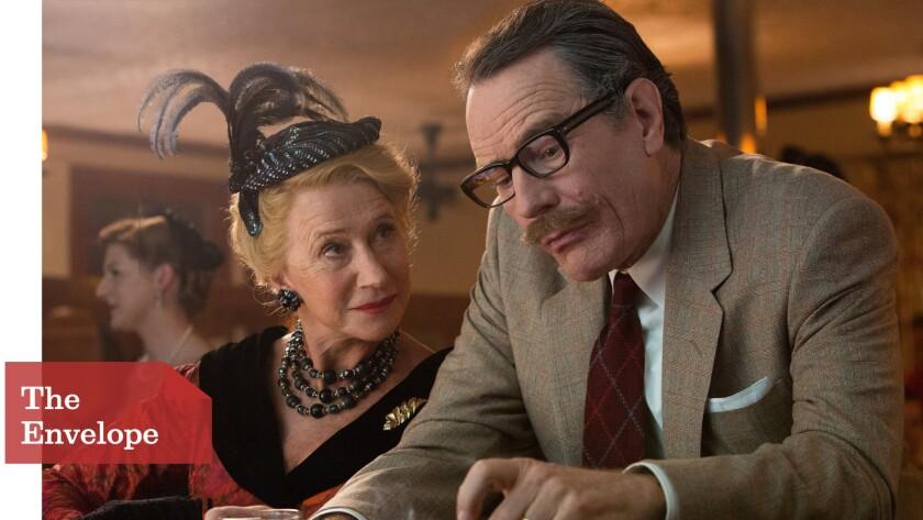 "Helen Mirren as Hedda Hopper and Bryan Cranston as Dalton Trumbo in ""Trumbo"""