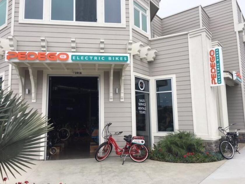 A rental bike outside the Pedego store at 5702 La Jolla Blvd. (858) 291-8845. pedegoelectricbikes.com