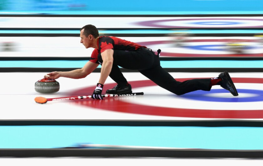 Canada's E.J. Harnden competes in a round-robin curling match against Switzerland at the 2014 Sochi Winter Olympic Games on Monday. Plenty of misconceptions surround curlers and their sport.