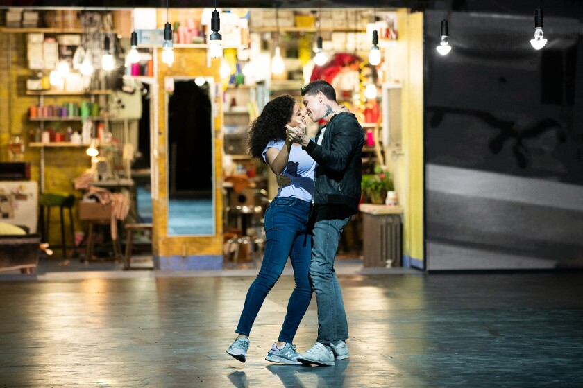 "Shereen Pimentel and Isaac Powell in ""West Side Story."""