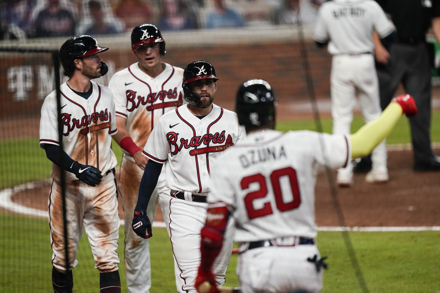 Braves Score Franchise Record 29 Runs In Romp Of Marlins The San Diego Union Tribune