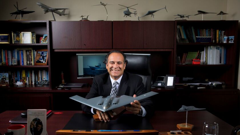 Chris Hernandez, sector vice president of research, technology and engineering at Northrop Grumman Corp., is photographed in his Redondo Beach office.