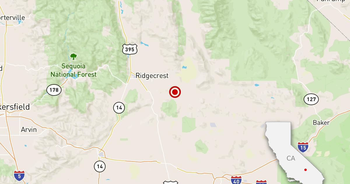 大震災3.2地震を感じた近Ridgecrest米国カリフォルニア州.