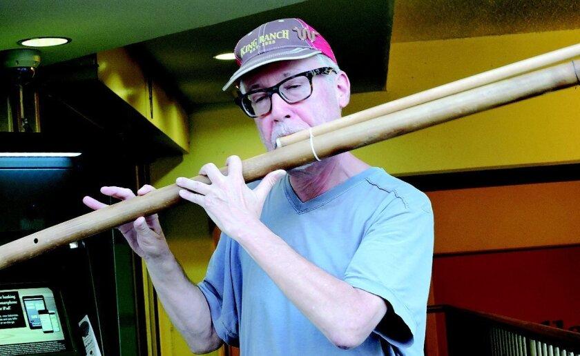 Todd Hoover plays a long moseno bamboo ....