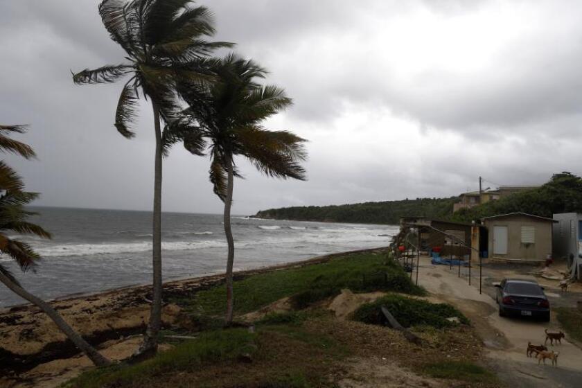 Vista de la playa de El Negro en el municipio de Yabucoa, lugar por donde se esperaba la entrada del huracán Dorian a Puerto Rico. . EFE/Thais Llorca