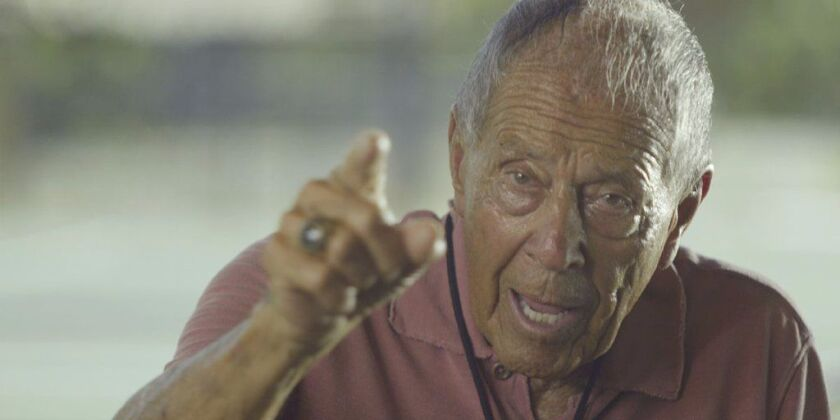 "Nick Bollettieri in a scene from  the documentary ""Love Means Zero."""