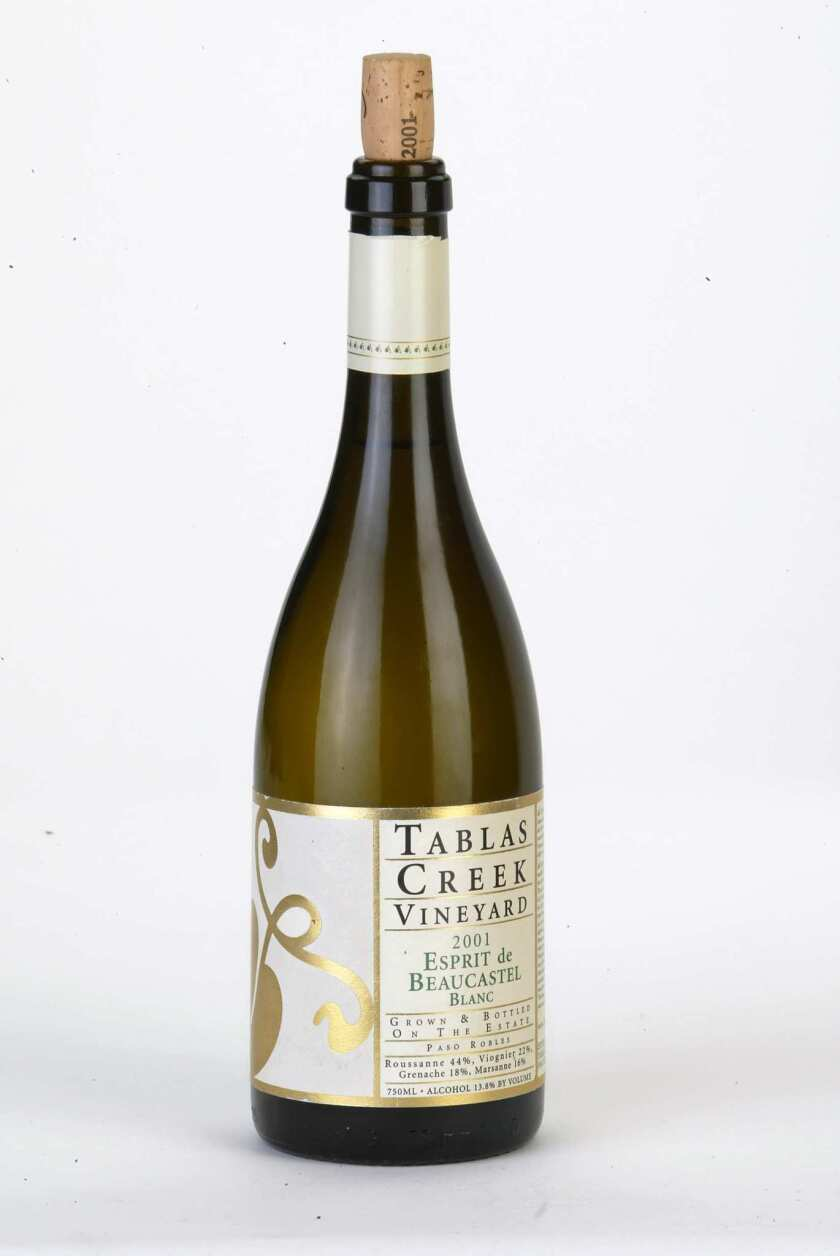 Tablas Creek Vineyard 2001 Esprit de Beaucastel Blanc.