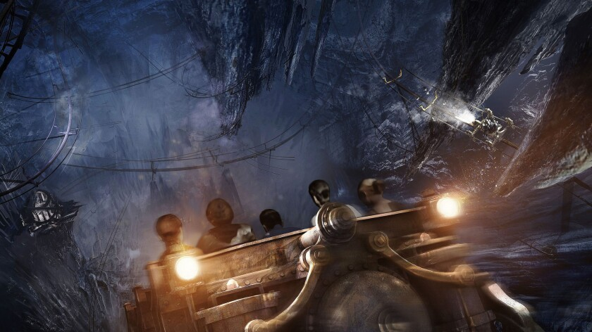 The Harry Potter and the Escape from Gringotts attraction