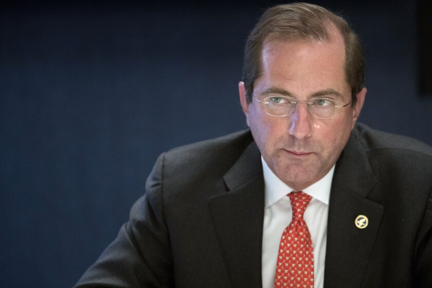 "Health and Human Services Secretary Alex Azar is the point person for President Trump's effort to implement a ""conscience"" rule allowing healthcare workers to refuse to participate in abortions and other services."