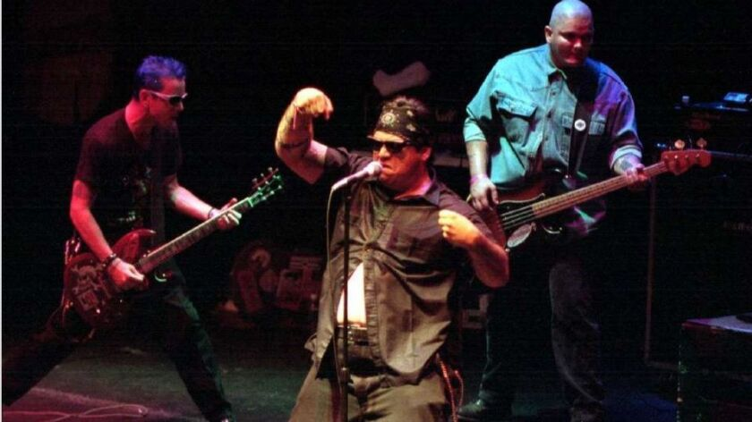 Mike Gaborno and the Cadillac Tramps in 1994.