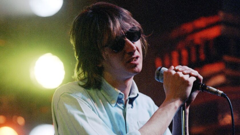 """Mark Hollis of Talk Talk performing on """"The Tube"""" in the 1980s."""