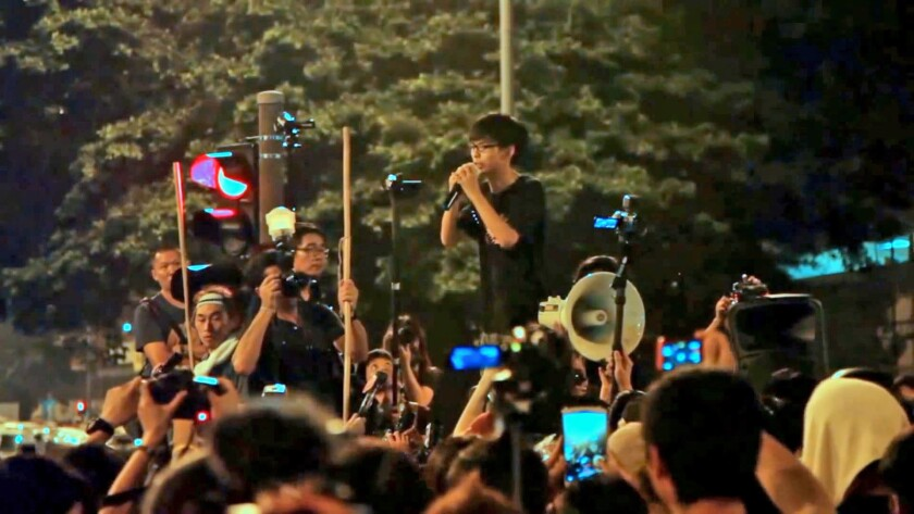 """Hong Kong youth Joshua Wong takes on the Chinese government on education and democracy in the documentary """"Joshua: Teenager vs. Superpower."""""""