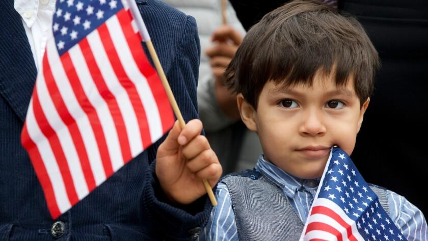 An immgrant boy from Honduras