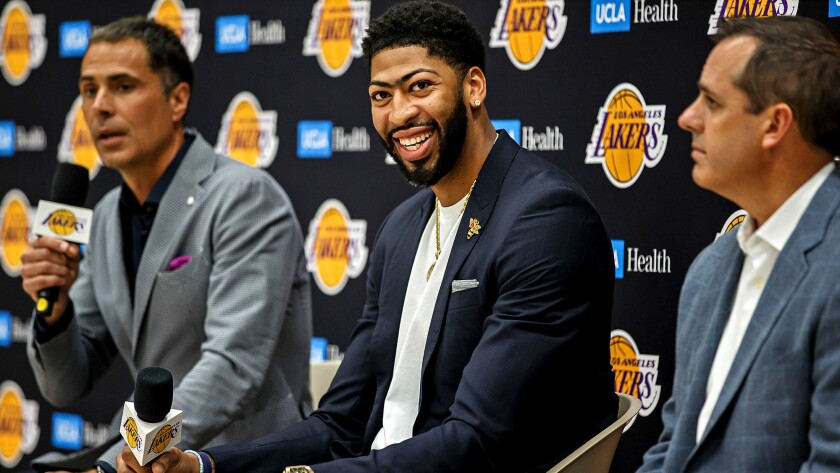 Lakers press conference with Anthony Davis