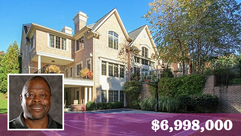 Retired Hall of Fame basketball player Patrick Ewing has listed his home in Creskill, N.J., for sale at $6.998 million or for lease at $25,000 a month.