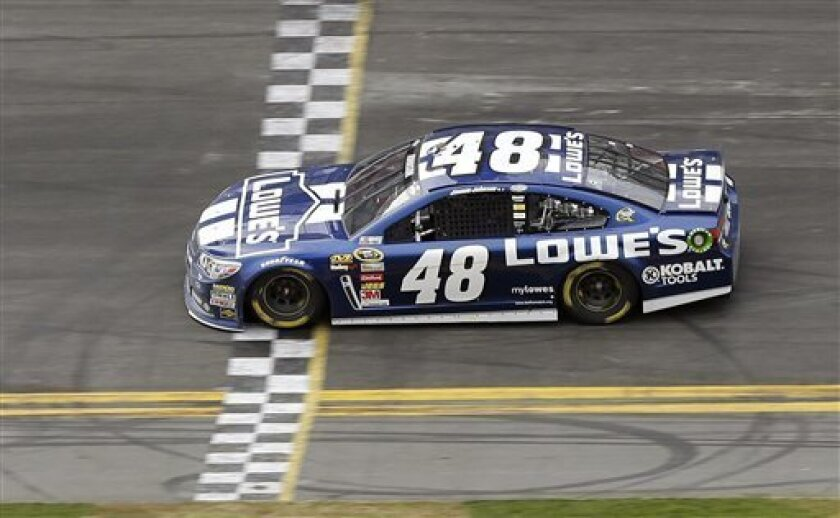 Jimmie Johnson Wins Daytona 500 For 2nd Time The San Diego Union