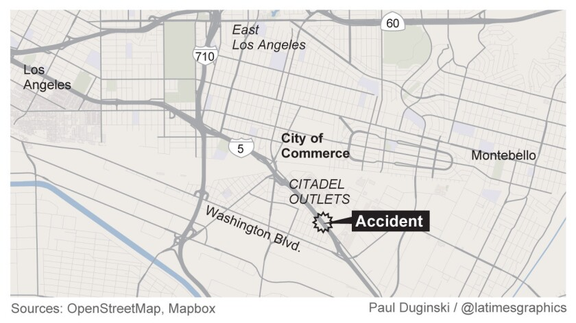 Three dead as multivehicle crash shuts down 5 Freeway in Commerce