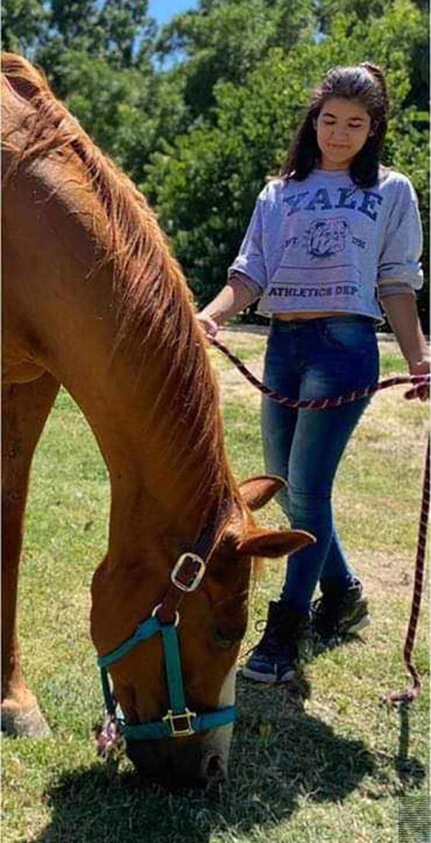 Summer Gardner-Vigil and her horse, Riggs.