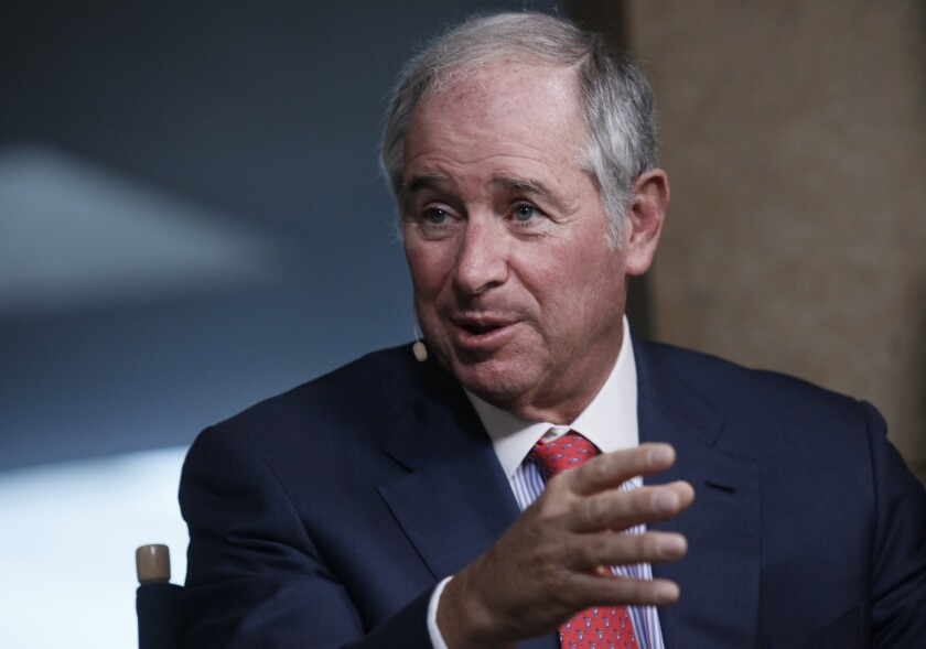 Another victim of the financial Nazis? Steve Schwarzman, co-founder, chairman and chief executive officer of Blackstone Group, at this year's Milken Institute Global Conference.