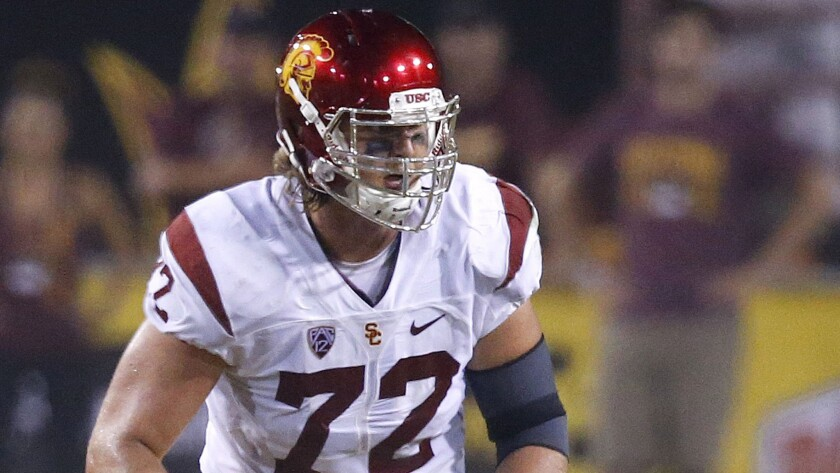 USC tackle Chad Wheeler is still dealing with a sore foot a week before the season opener.