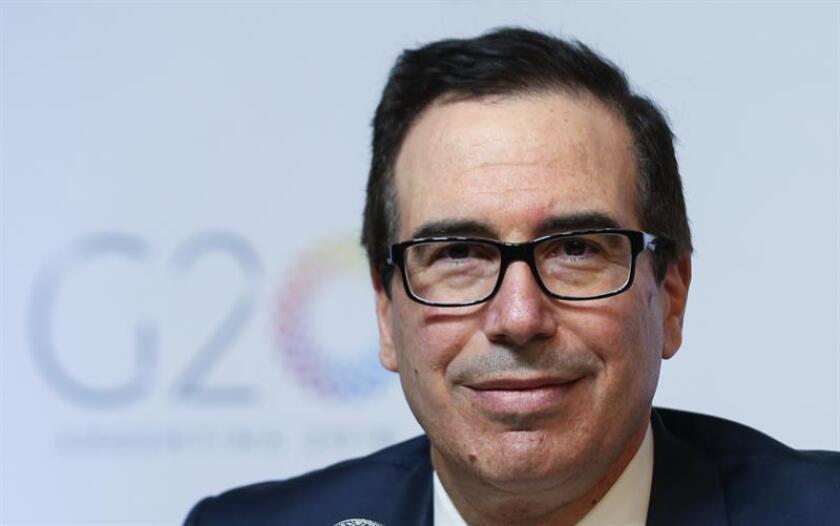 El secretario del Tesoro de EE.UU, Steven Mnuchin. EFE/Archivo