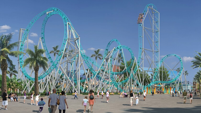 It S Been A Decade Since Knott S Built A Major Coaster Will Hangtime Be Worth The Wait Los Angeles Times