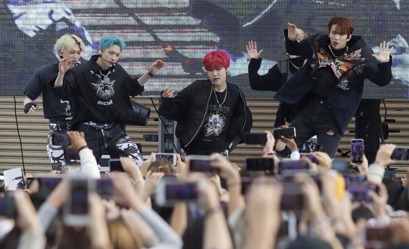 South Korean boy band P1Harmony, the headliner of the KPOP cover dance festival entertained their audience.