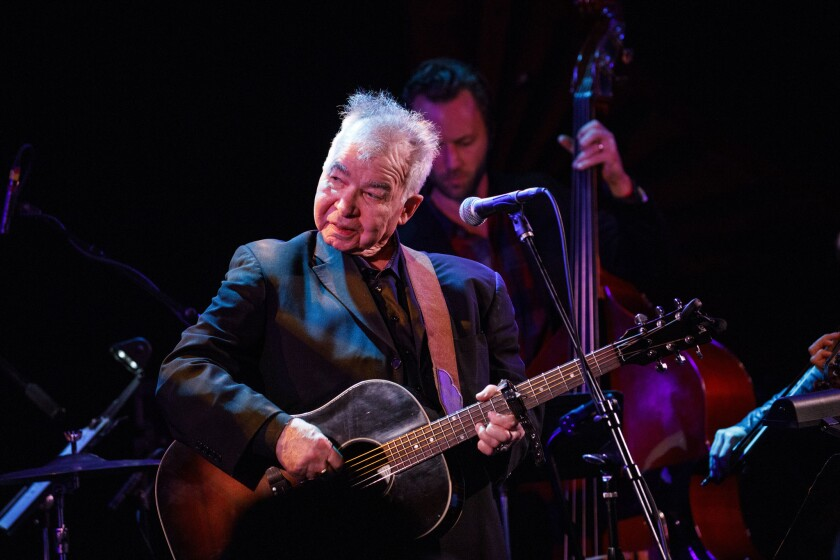 John Prine performs live during a tribute to his music at The Troubadour on Saturday, February 9. Prine was honored during the annual pre-Grammy Awards gathering of the Americana Music Association.