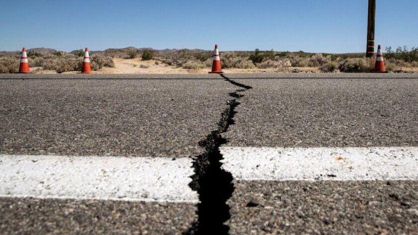 Earthquake aftermath in Ridgecrest, California, USA - 04 Jul 2019