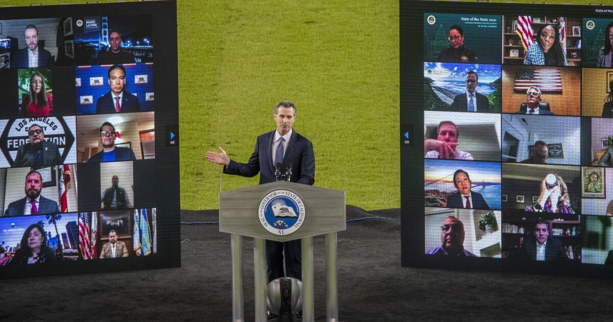 Newsom's speech felt like a campaign kickoff to sink recall  - Los Angeles Times