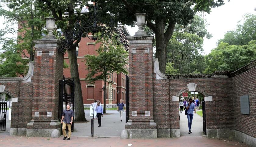 The gates of Harvard Yard at Harvard University