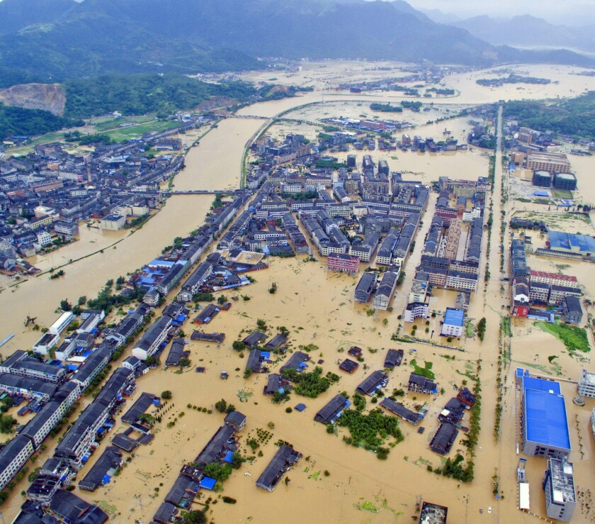 Typhoon Soudelor lands in China