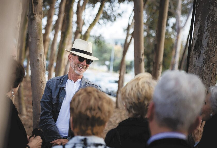 John Luther Adams at UC San Diego talking about his upcoming contribution to the campus' Stuart Collection. Photo: Erik Jepsen/UCSD