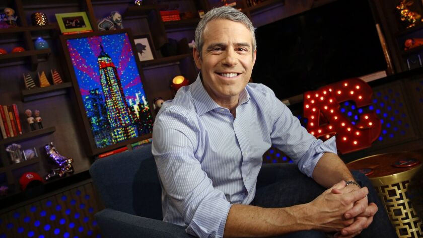 NEW YORK, NEW YORK--MARCH 21, 2017--Andy Cohen has his own show now on Bravo called Watch What happe