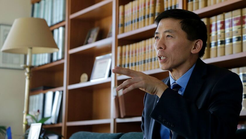 California Supreme Court Justice Goodwin Liu, the author of this article, in his office in San Francisco on Jan. 13.