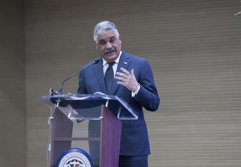 En la imagen, el canciller dominicano, Miguel Vargas. EFE/Archivo