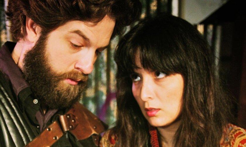 Jared Moore as Macbeth and Jeannette A. Gardea as Lady Macbeth.