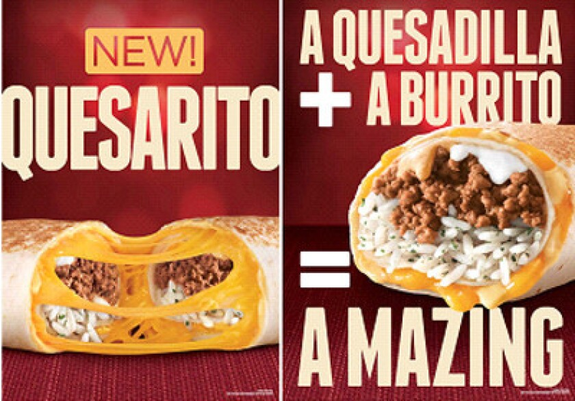 Taco Bell has started testing a quesarito, a burrito wrapped in a grilled quesadilla.