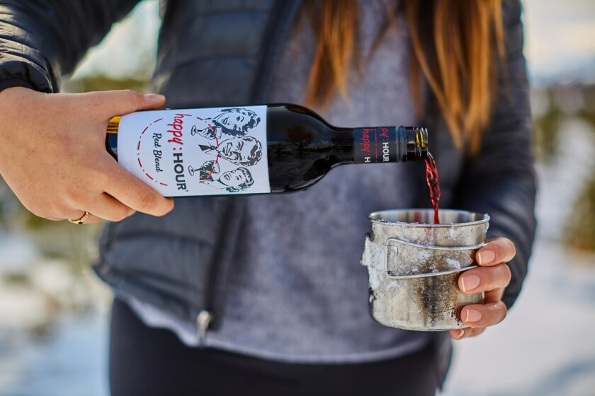 Happy Hour Wine Company red blend. (Courtesy photo)