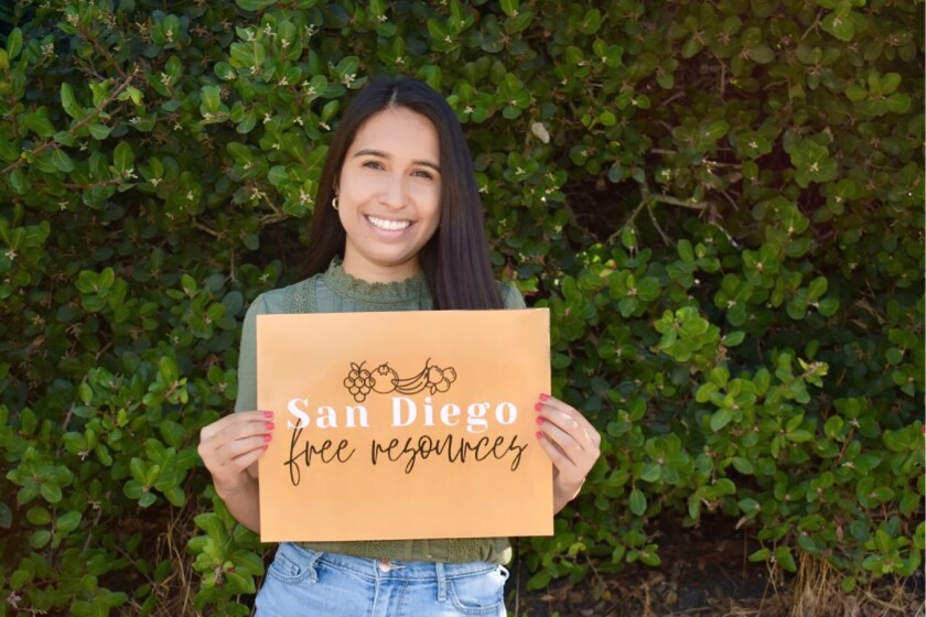 UC San Diego senior Arianna Chavez runs San Diego Free Resources, an Instagram page of resources for anyone who needs them.