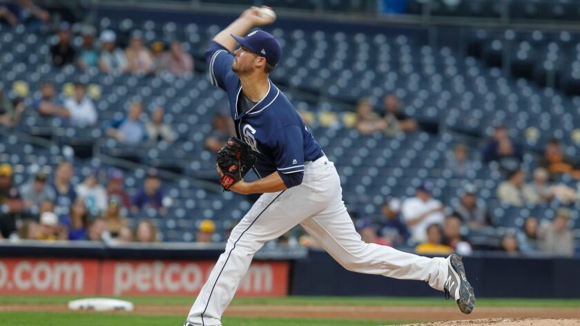 SAN DIEGO, CA September 30th, 2017 | Padres minor league pitcher Jacob Nix throws the ball during th