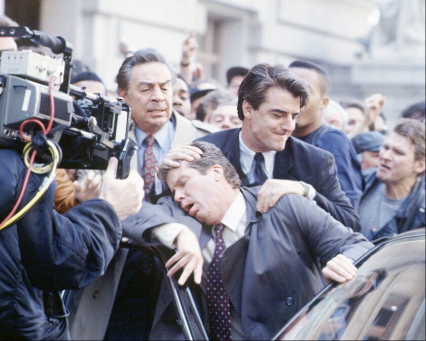 "Jerry Orbach, Chris Noth and Daniel Hugh Kelly in Dick Wolf's crime drama ""Law & Order."""