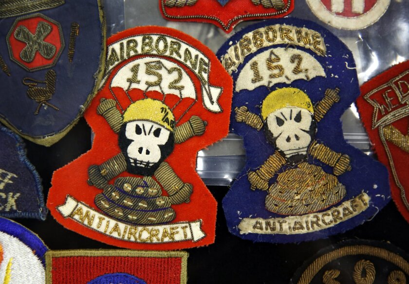 Some of the patches for sale at an table hosted by collector Morton Cohen, who is from Florida.  Photo by Nancee E. Lewis / Nancee Lewis Photography..